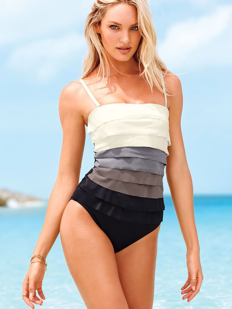 b165734993982 Colorblock Ruffle One-piece - Magicsuit® - Victoria s Secret