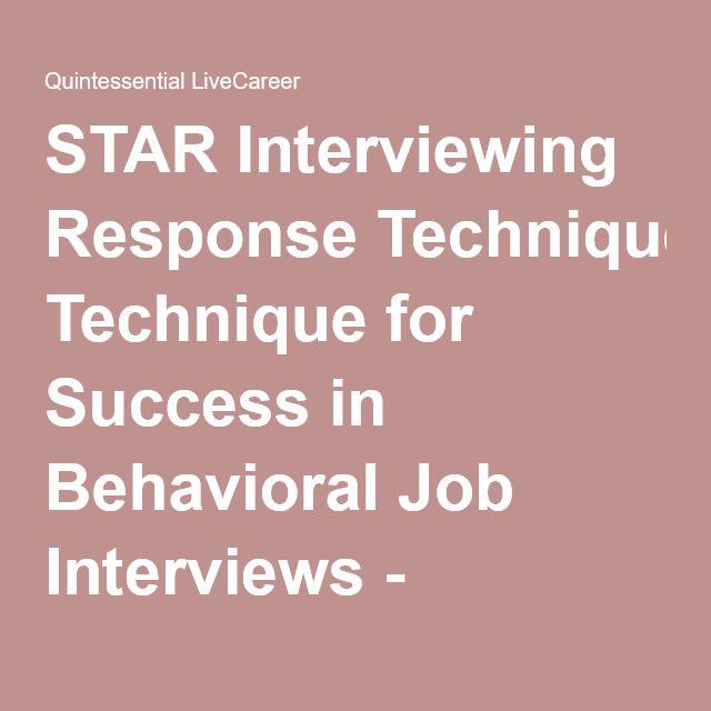 star interviewing response technique