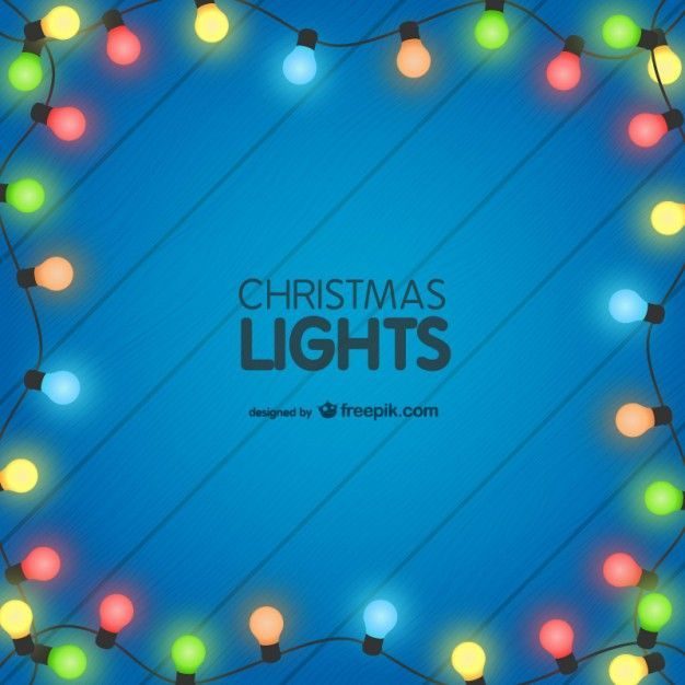 Colorful Christmas Lights Background Vector