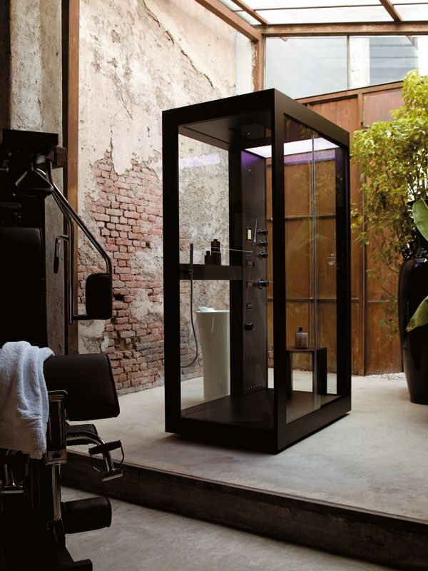 Rectangular shower cabin AVEC MOI by Kos by Zucchetti | #Design Ludovica+Roberto Palomba #shower #bathroom