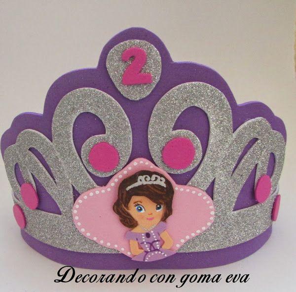 Corona de cumplea os de la princesa sof a manualidades - Manualidades para cumpleanos ...