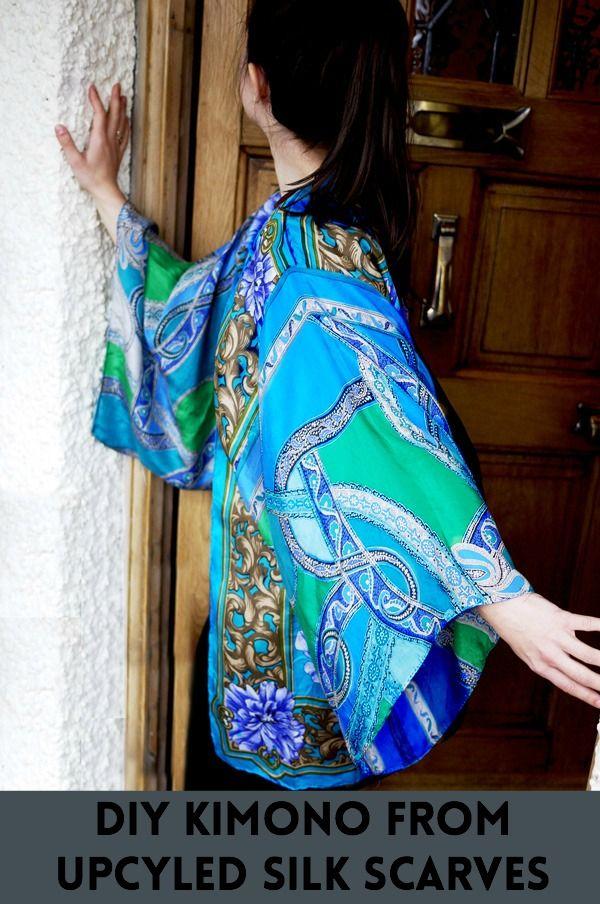 How To Make A Silk Scarf Kimono Diy