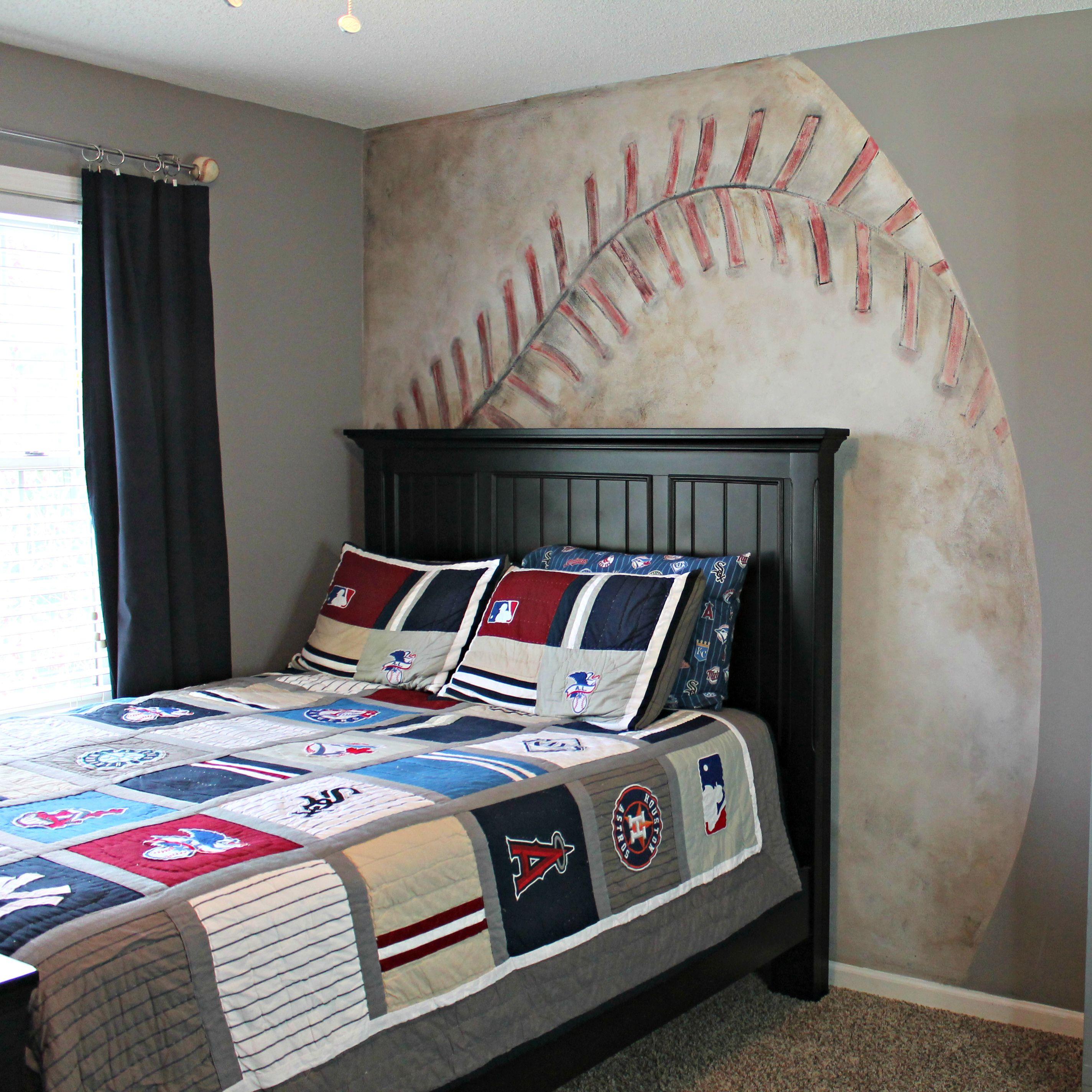 Noah S Baseball Mural Room Baseball Bedroom Home Jennifer Allwood