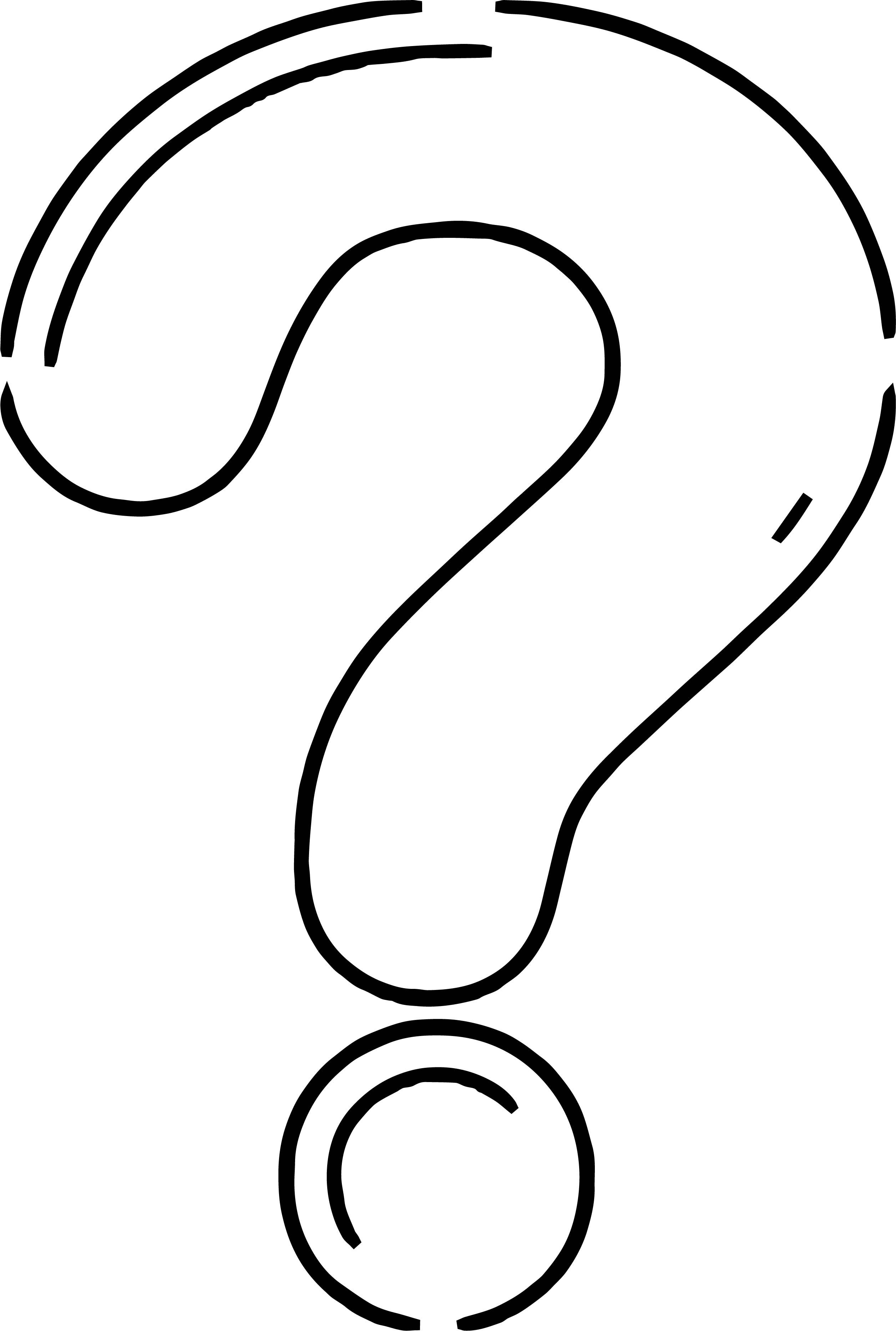 Awesome Any Question Mark Coloring Page