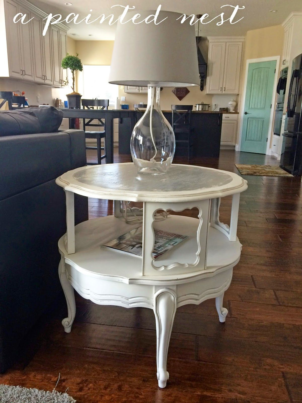 Round Traditional End Table Refurbished Coffee Tables Western Home Decor Furniture