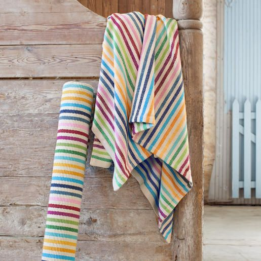 The rug company striped woven throw reserve