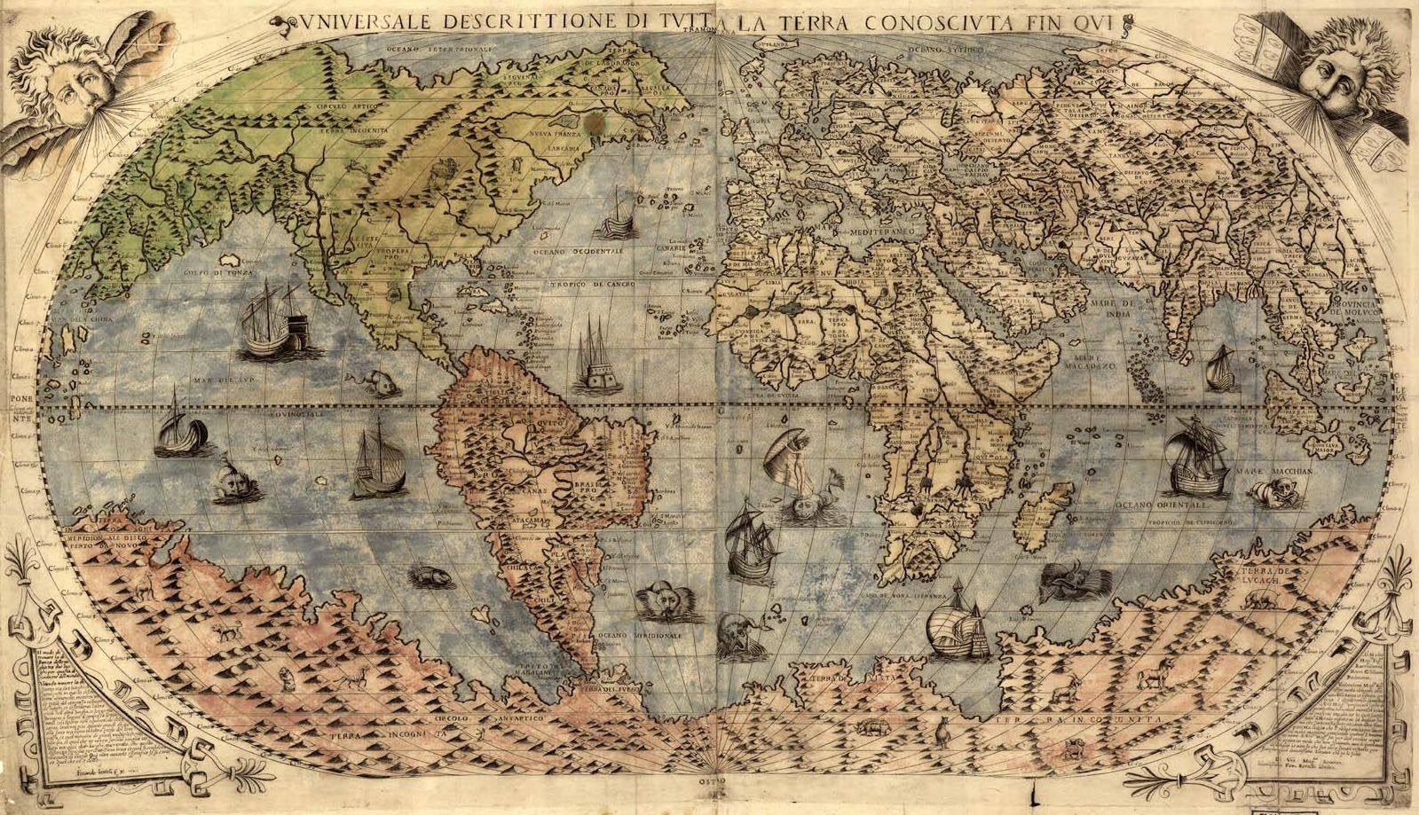 Old map of the world from the 1500s mapas antiguos old maps old map of the world from the 1500s gumiabroncs Images