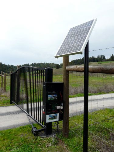 This Solar Gate Opener Is Designed To Be Easy To Install