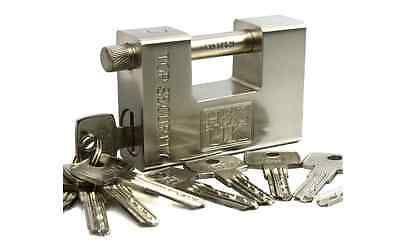 10 Key Super Heavy Duty Padlock Lock Garage Warehouse