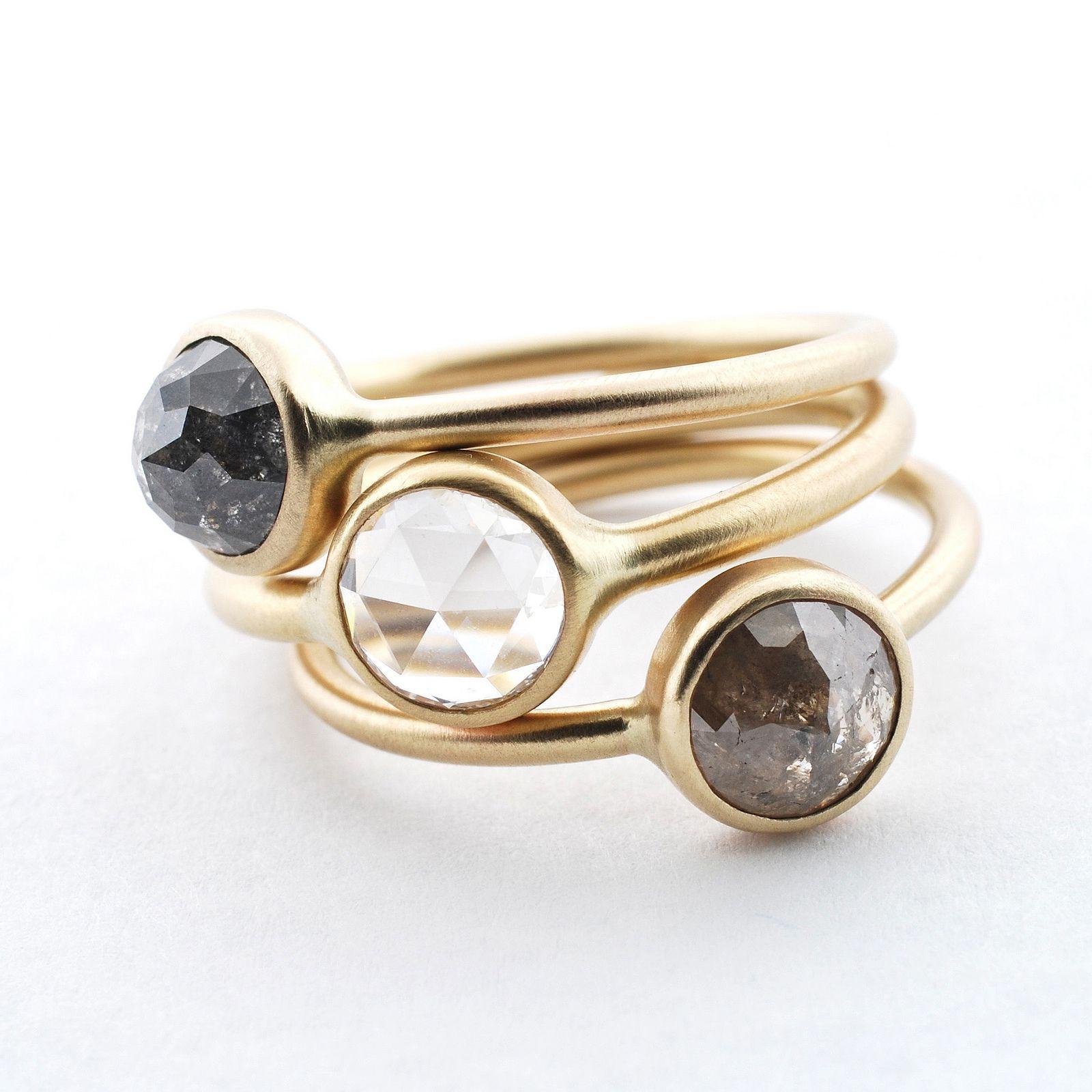 Diamonds | 14k yellow gold and three of my favorite diamonds… | Johnny Ninos | Flickr