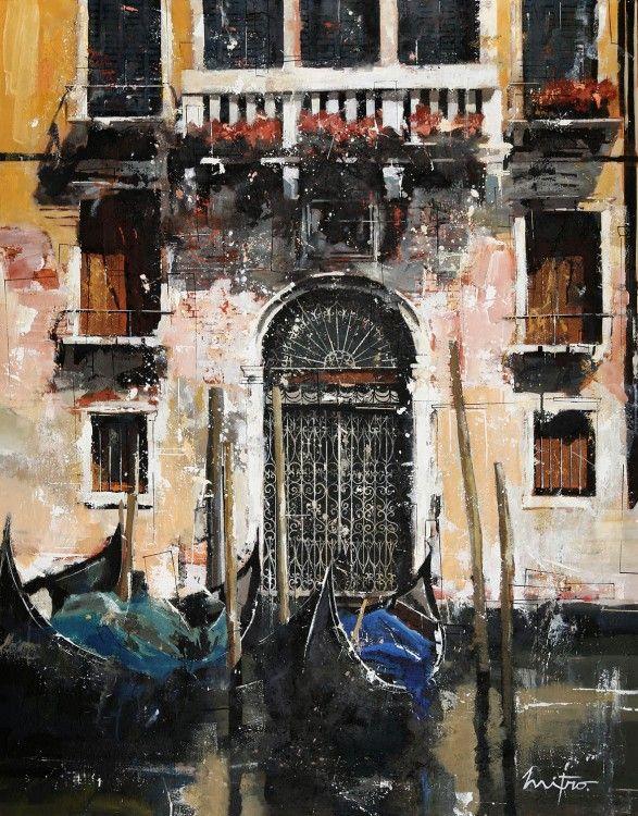 Venise devant la porte peinture 114x146 cm 2014 par mitro art figuratif toile pinteres - Entree schilderij ...
