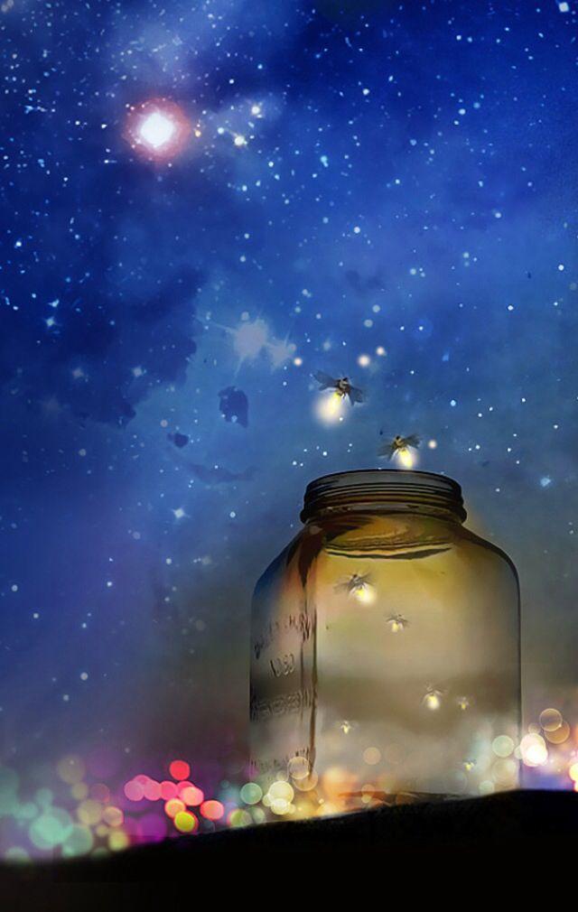 الجمال الحقيقي هو جمال الروح وسمو الأخلاق الجمال هو قوة الإنسان في إقناع الآخرين بعظمة التواضع Firefly Art Night Skies