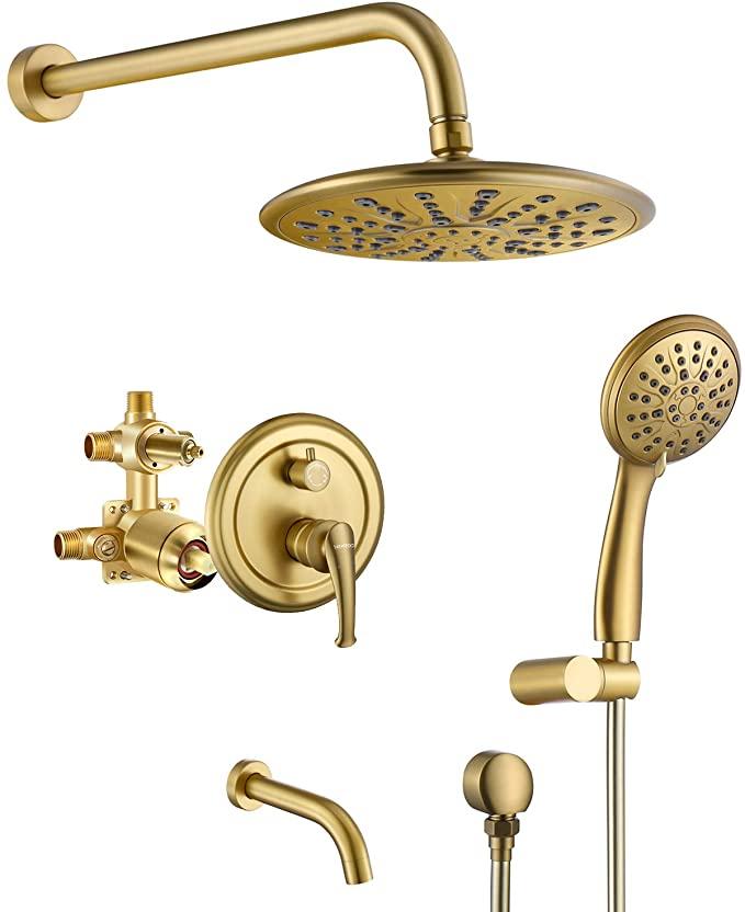 Brass Black Hand Shower Head with Hose and Holder High Pressure for Bathroom Set