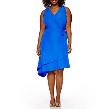 Jcpenney Com Donna Ricco Sleeveless Asymmetrical Hem Dress Plus