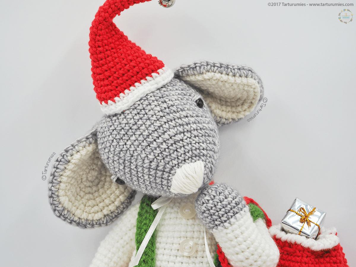 Amigurumi Patrón: Roger el Ratón de Navidad | bellezas del crochet ...