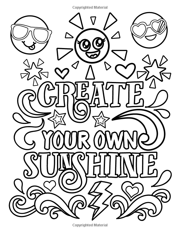 Amazon Com Emoji Coloring Book For Girls Of Funny Stuff Inspirational Quotes Super C Quote Coloring Pages Love Coloring Pages Coloring Pages Inspirational