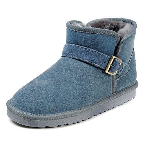 Women's Diamond Style Leather Flat Short Boots