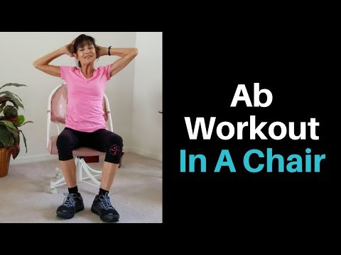 Seated Core Exercises For Seniors - Fitness With Cindy   Abs workout. Core workout
