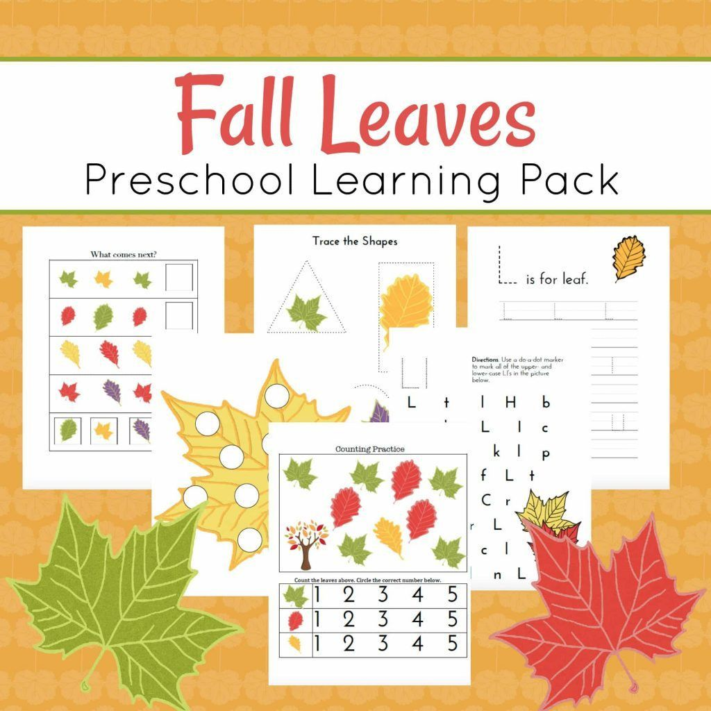 3 Preschool Worksheets Free Fall In With Images