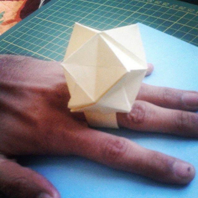 Diamond Ring.. ON My small hand  :p