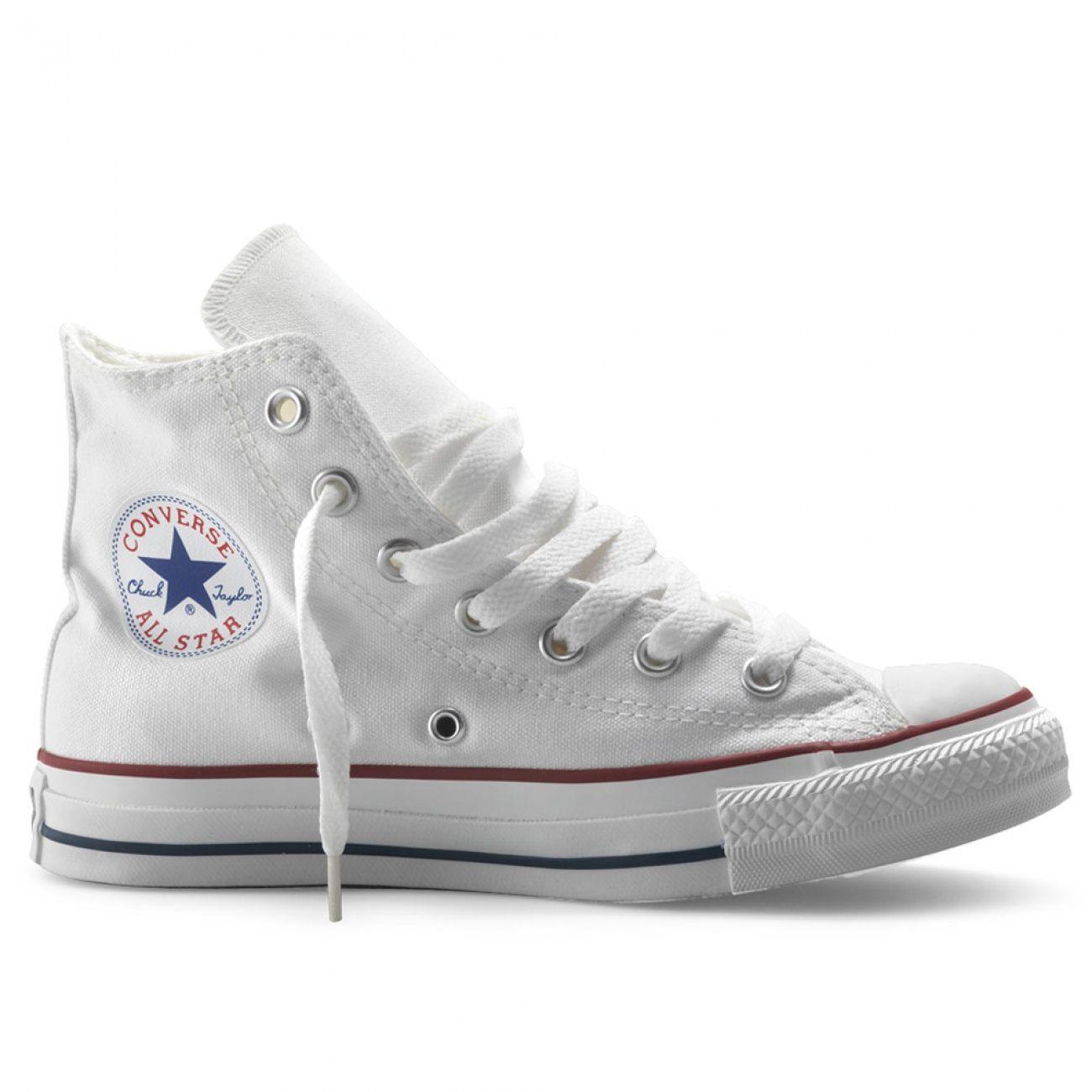 Witte gympen van Converse. Deze all stars hebben een ...