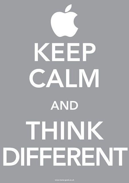 Keep Calm And Think Different Sabias Palavras Frases Legais