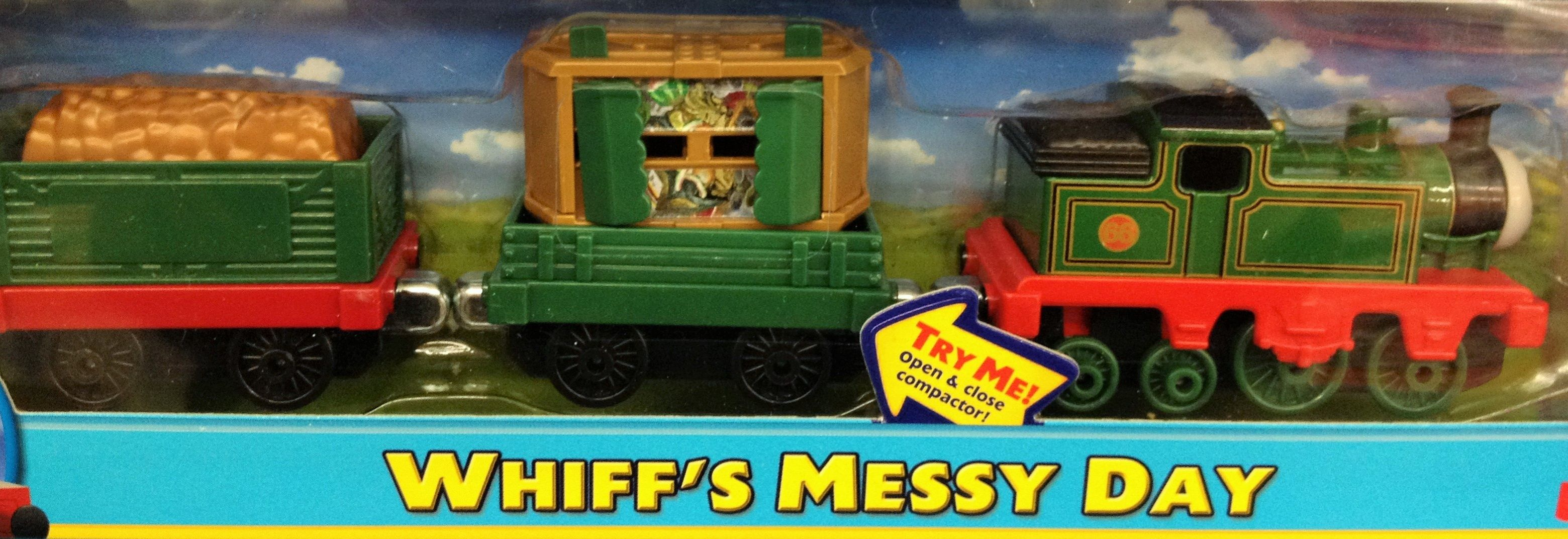 Whiff the garbage engine and his personalized trash cars | Trains on ...