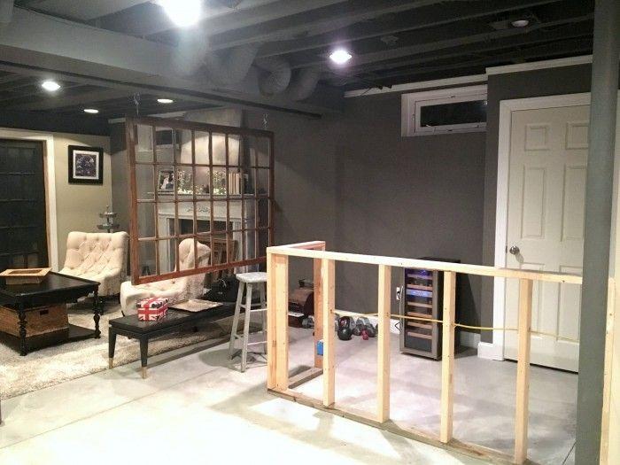 DIY+Decor+Industrial+Basement+Remodel