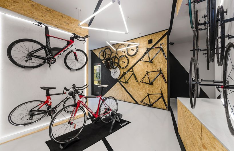 Mode Lina Designs Multi Functional Bike Shop For Velo7 Bicycle