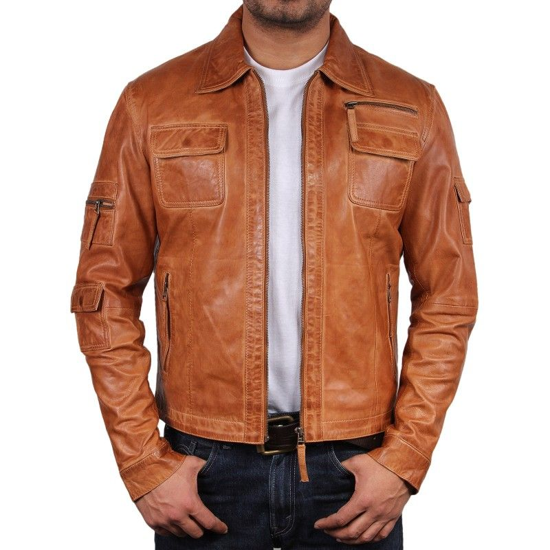 Tan leather jacket for men - Cheap online clothing stores ...