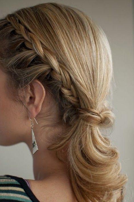 Braided Ponytail Hairstyle For Medium Hair Hairstyles Weekly Hair Styles Hair Romance Long Hair Styles
