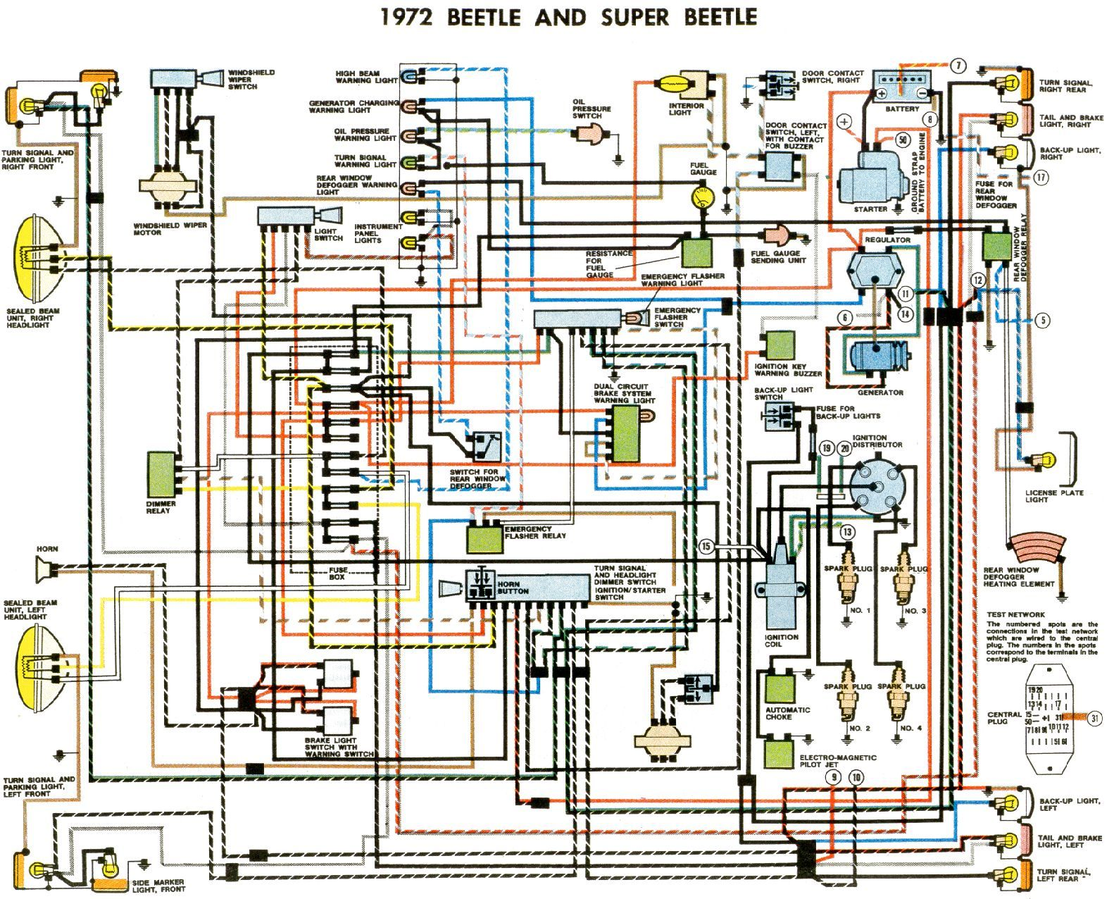72 Wiring Diagram Jpg 1582 X 1276 46 Vw Super Beetle Diagram Design Volkswagen Car