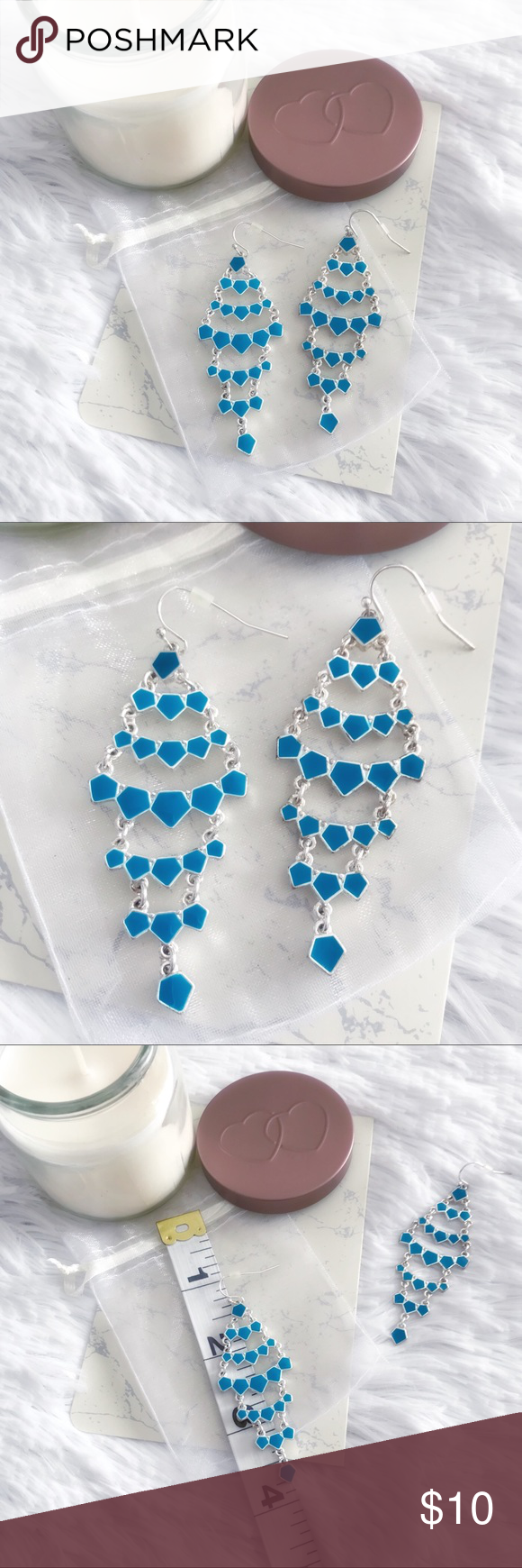 Teal chandelier earrings chandelier earrings teal and teal chandelier earrings mozeypictures Images