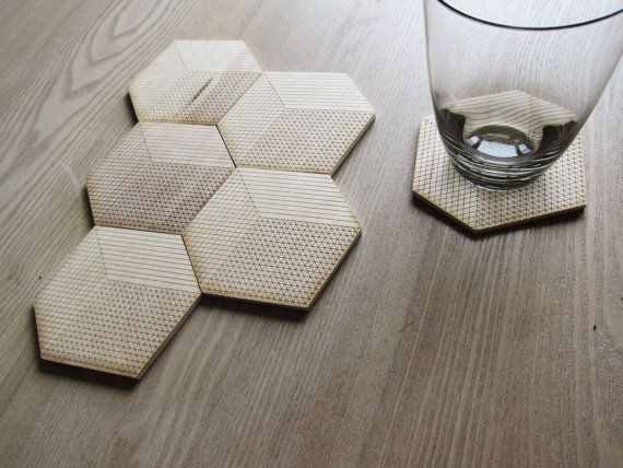projects design unique coasters. etched wood projects to try  More coasters Grab some plain VIA Etsy and fire up the burner via putitonme 12 Home Pinterest Wood