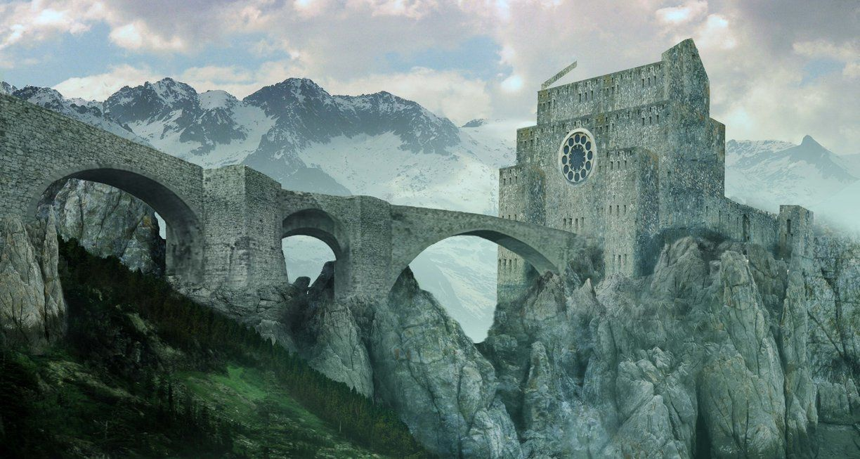 Castle in the Mountain (WIP) by SARGY001