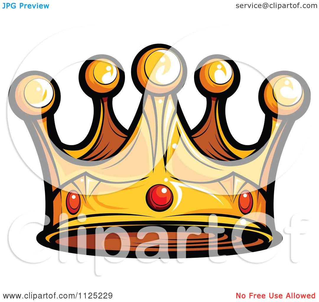 Cartoon King Crown Images – Cartoon image of king with huge crown.