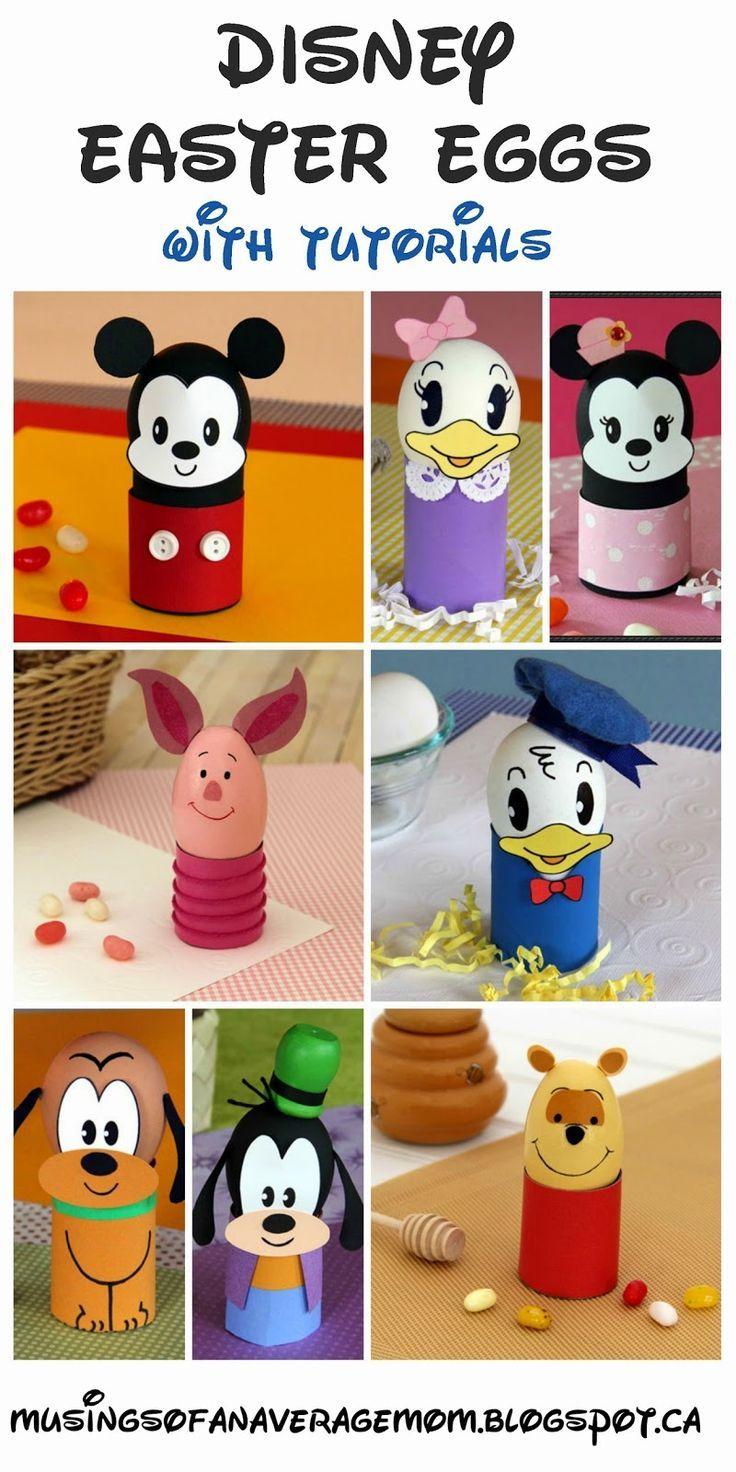 Disney Easter Egg Decorating Round Up