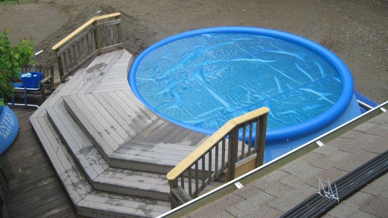 Shallow end for above ground pool landscape ideas for Above ground pool setup ideas