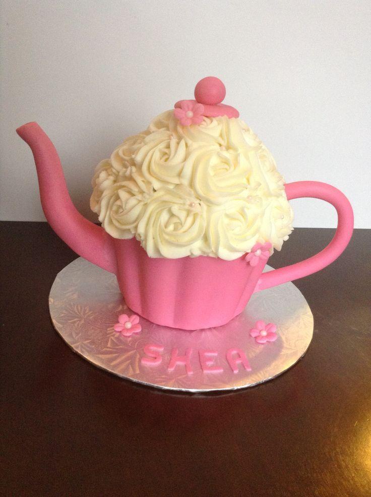 Giant cupcake - Teapot cake | My Cakes | Pinterest