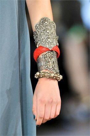 silver cuffs with cinnabar bangle