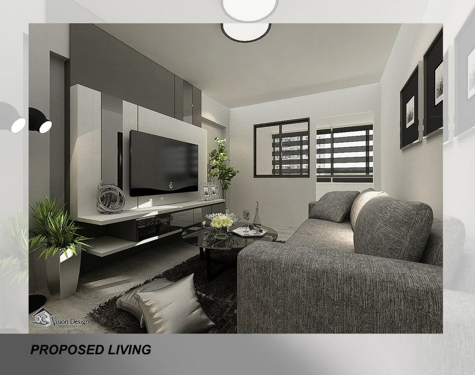 Lovely Hdb Resale 3 Room Contemporary At Changi Village Tv Feature Wall Cozy Living Rooms Hall Design