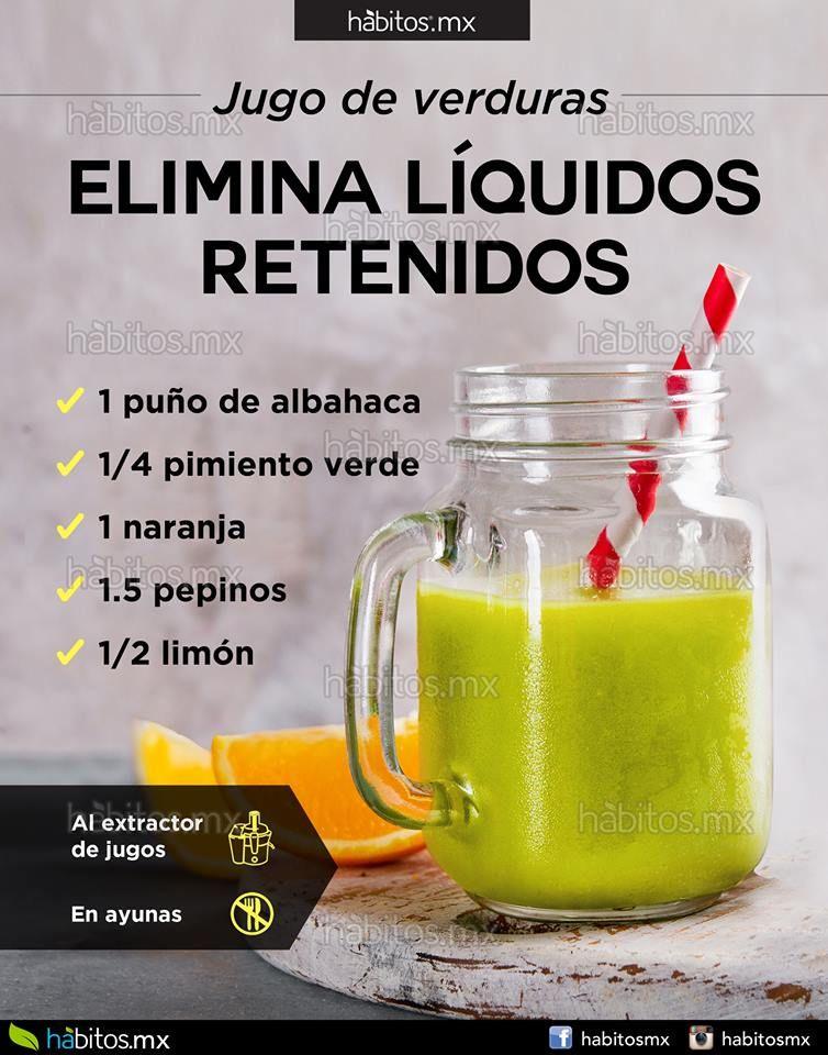 Dieta para eliminar liquidos retenidos