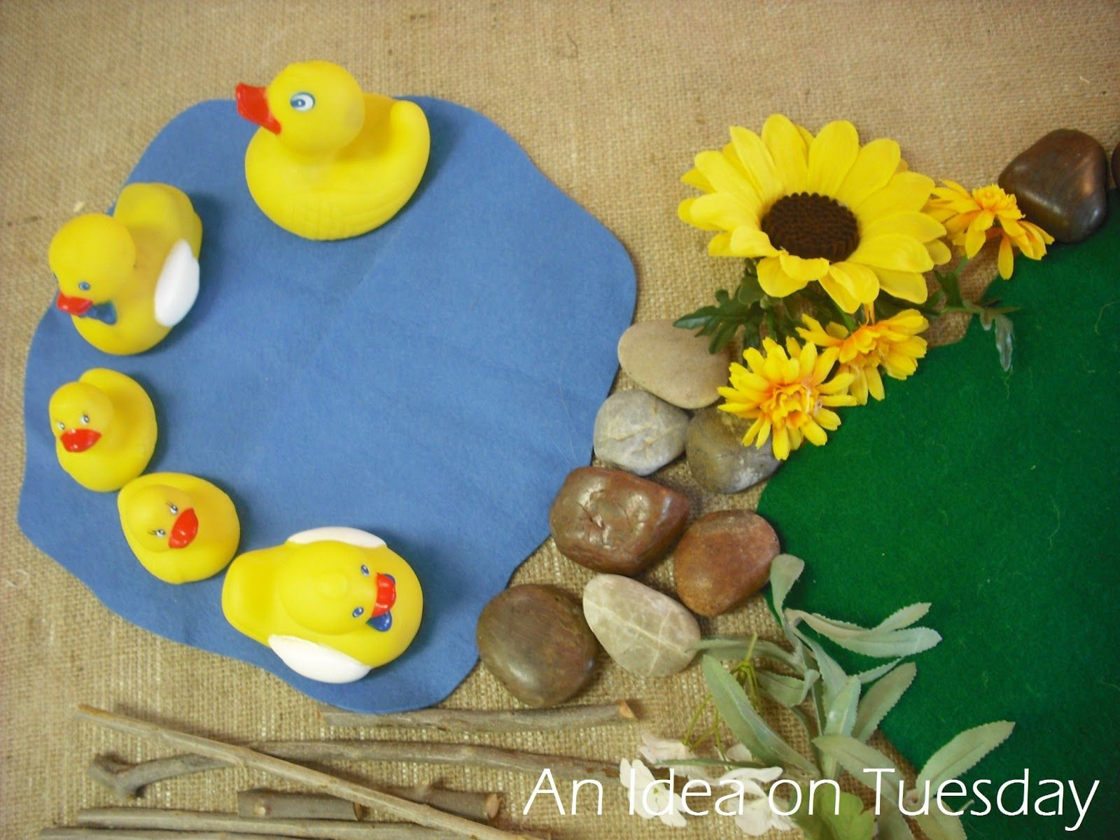 An Idea On Tuesday 5 Little Ducks Went Swimming One Day