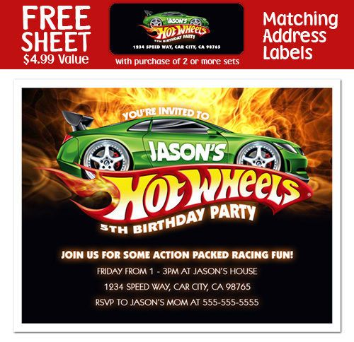 Hot Wheels Birthday Invitations Template Best Template