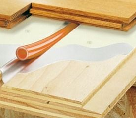 Warmboard cross section radiant floor heating for Warmboard cost