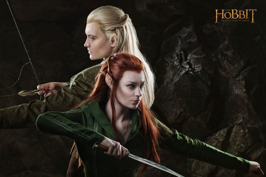 Legolas and  Tauriel - The Hobbit cosplay (test) by LuckyStrike-cosplay.deviantart.com on @deviantART