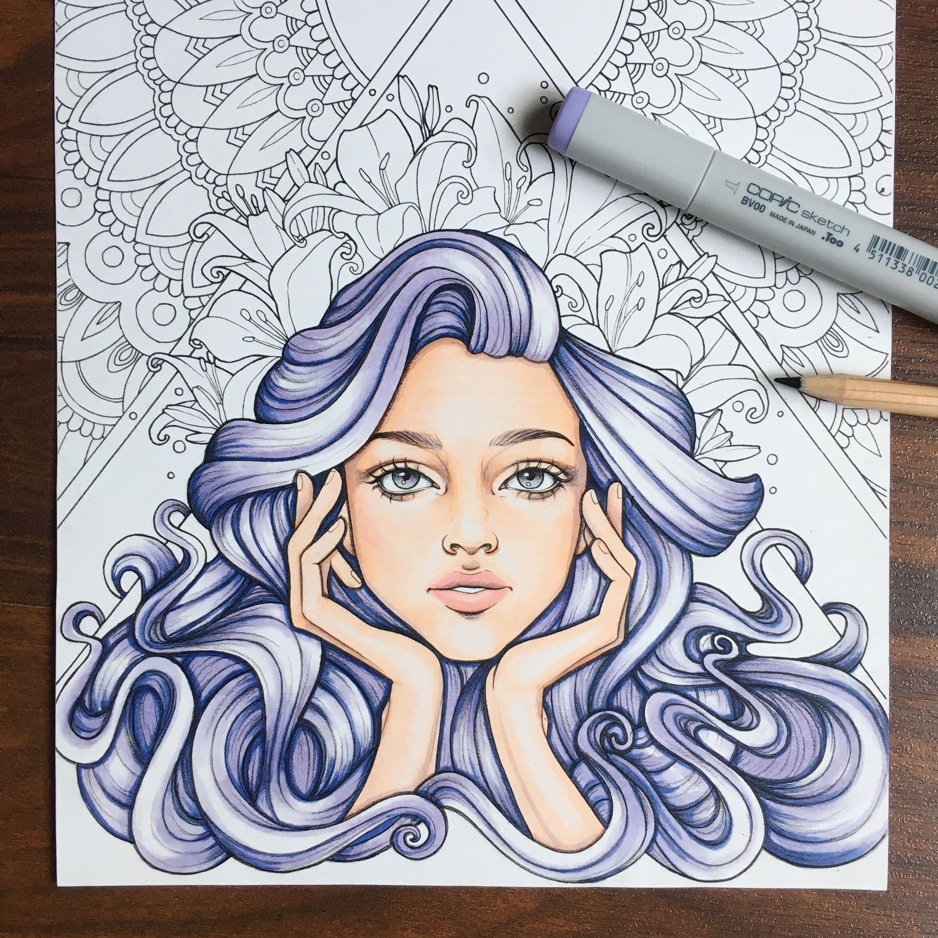 Testing Some Of My Linework For The Coloring Book Copicmarker Cansonpaper Tombowusa Copic Marker Art Marker Art Art Reference Photos