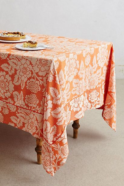 Gorgeous Orange Magnolia Tablecloth Http Rstyle Me N Humxmpdpe