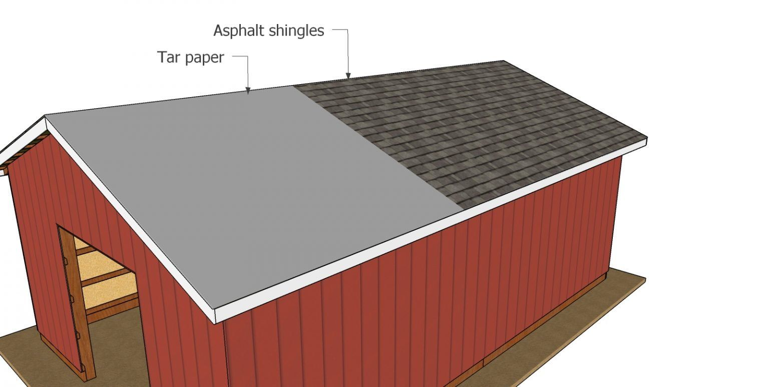 20x30 Gable Pole Barn Roof Plans Myoutdoorplans Free Woodworking Plans And Projects Diy Shed Wooden Playhouse Pergol In 2020 Barn Roof Barn Renovation Roof Plan