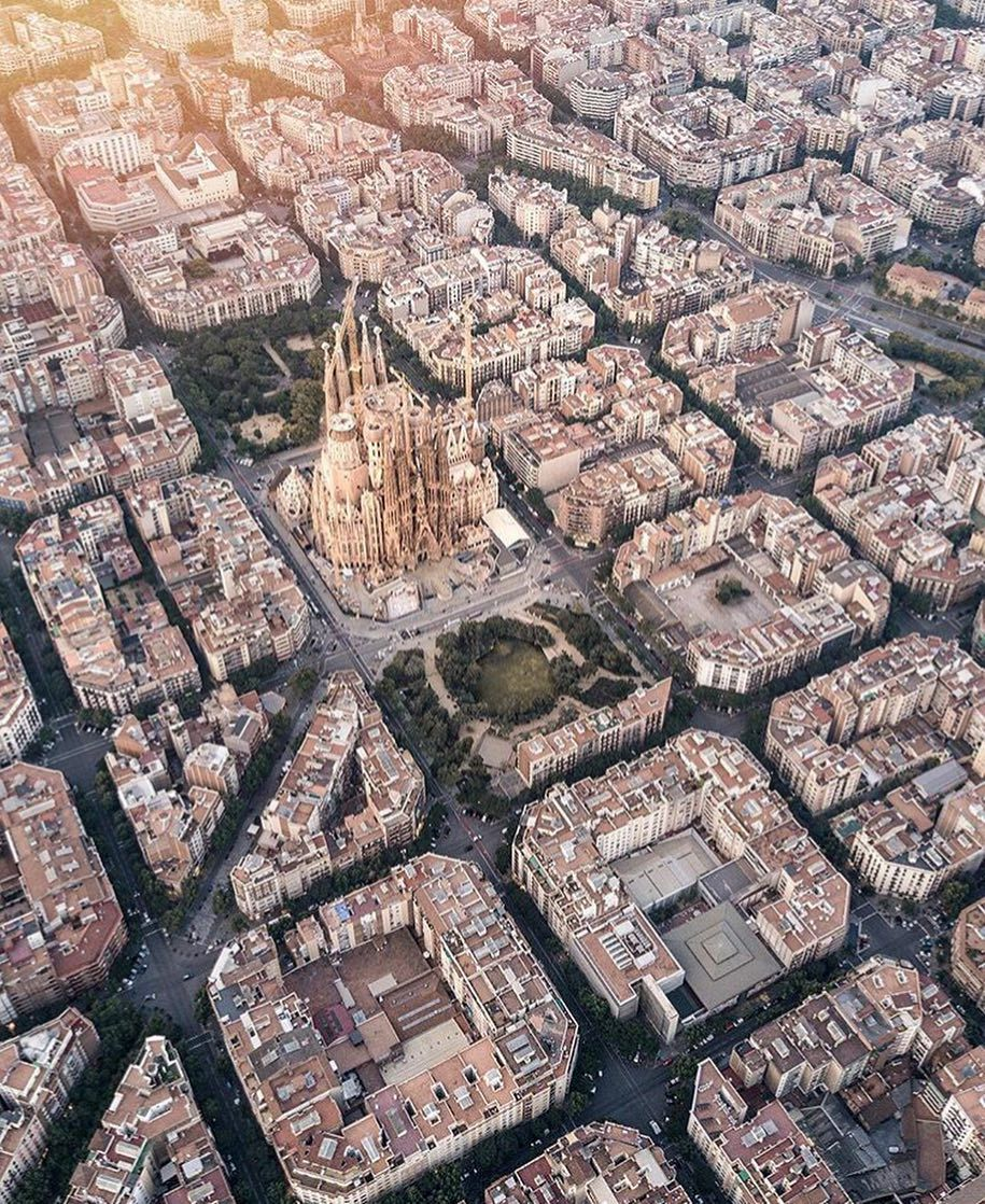 Barcelona from Above - Spain | photo by @gallivanti | Travel Pin